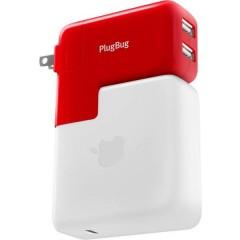 PlugBug Duo Caricatore USB Presa di corrente USB con adattatore UK, con adattatore USA, con