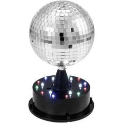 LED (monocolore) KIT palla a specchi con supporto, con illuminazione a LED 13 cm