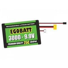 Batteria ricaricabile LiIon 9.9 V 3000 mAh 25 C Blocco XH