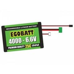 Batteria ricaricabile LiIon 6.6 V 4000 mAh 25 C Blocco XH