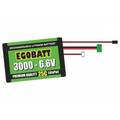 Batteria ricaricabile LiIon 6.6 V 3000 mAh 25 C Blocco XH