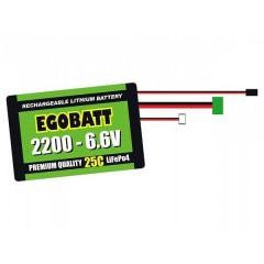 Batteria ricaricabile LiIon 6.6 V 2000 mAh 25 C Blocco XH