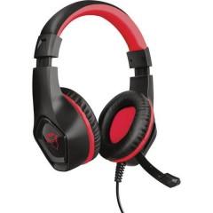GXT404R Rana Cuffia Headset per Gaming Jack 3,5 mm Filo Cuffia Over Ear Nero, Rosso
