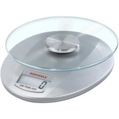 KWD Roma silver Bilancia da cucina digitale digitale Portata max.=5 kg Argento