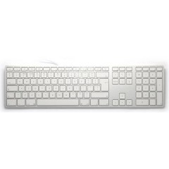 Aluminium USB Tastiera Inglese UK, QWERTY, Mac Argento