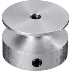 Alluminio Puleggia Ø foro: 6 mm Diametro: 40 mm