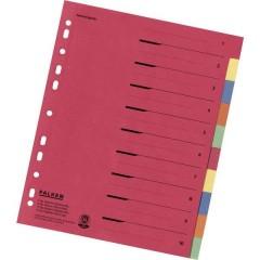 Divisore DIN A4, Fuori misura blank Cartone Multicolore 10 schede con stampa organizzativa