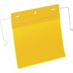 Busta con fissaggio metallico Giallo (L x A) 210 mm x 148 mm DIN A5 orizzontale