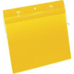 Busta con fissaggio metallico Giallo (L x A) 297 mm x 210 mm DIN A4 orizzontale