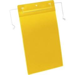 Busta con fissaggio metallico Giallo (L x A) 210 mm x 297 mm DIN A4 verticale