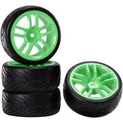 1:10 Auto stradale Ruote complete Devil GT Verde Neon 1 pz.