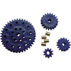 Assortimento ingranaggi per esperimenti didattici Tipo di modulo 1.0 Ø foro 3.9 mm