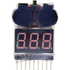 Tester LiPo checker Adatto per celle: 2 - 8 1 pz.