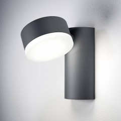 ENDURA® STYLE SPOT ROUND L Lampada da parete per esterni a LED 8 W Bianco caldo Grigio scuro