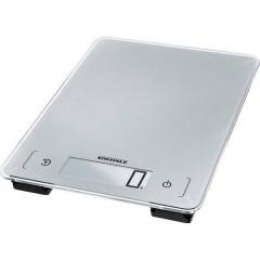 KWD Page Aqua Proof Bilancia da cucina digitale Portata max.=10 kg Grigio-Argento
