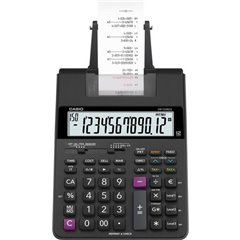 HR-150 RCE Calcolatrice da tavolo scrivente Nero Display (cifre): 12 a batteria, rete elettrica (opzionale) (L x A