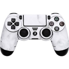 Skin für PS4 Controller White Marble Cover PS4