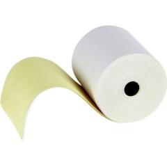 Rotolo carta standard per scontrini con copia Larghezza: 76 mm Lunghezza: 25 m Diametro: 65 mm 50 pz.