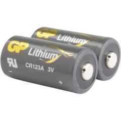CR123A Batteria per fotocamera CR-123A Litio 1400 mAh 3 V 2 pz.