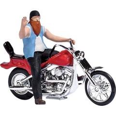 H0 Motocicletta US con biker