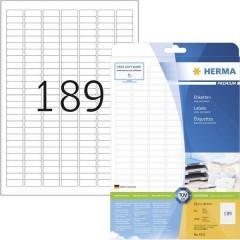 Etichette 25.4 x 10 mm Carta Bianco 4725 pz. Permanente Etichetta universale Inchiostro, Laser, Copia 25