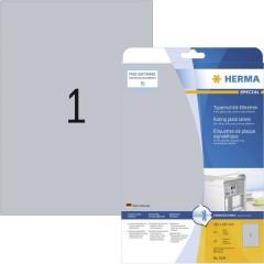 Etichette 210 x 297 mm Pellicola in poliestere Argento 25 pz. Permanente Etichetta per cartellini e targhette