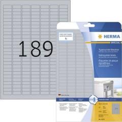 Etichette 25 x 10 mm Pellicola in poliestere Argento 4725 pz. Permanente Etichetta per cartellini e targhette