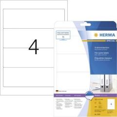 Etichetta per raccoglitore da ufficio 61 x 192 mm Carta Bianco Permanente 100 pz.