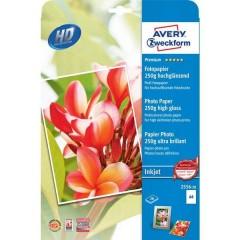 Premium Photo Paper Inkjet Carta fotografica DIN A4 250 gm² 20 Foglio Super lucida