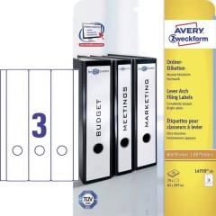 Etichetta per raccoglitore da ufficio 61 x 297 mm Carta Bianco Permanente 75 pz.
