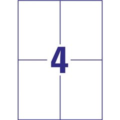 Etichette 105 x 148 mm Carta Bianco 400 pz. Permanente Etichetta universale Inchiostro, Laser,