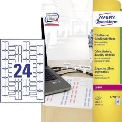 Etichette 60 x 40 mm Pellicola in poliestere Bianco 480 pz. Permanente Etichetta per cavi