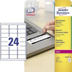 Etichette 63.5 x 33.9 mm Pellicola in poliestere Bianco 480 pz. Permanente Etichetta
