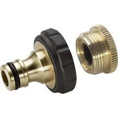 Ottone Presa per rubinetti filettati Raccordo a innesto, 24,2 mm (3/4) FI, 18,7 mm (1/2) FI Kit