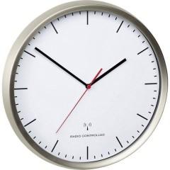 Radiocontrollato Orologio da parete 30.5 cm x 4.8 cm Acciaio inox (spazzolato) Movimento