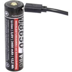 Pro USB Batteria ricaricabile speciale 18650 Li-Ion 3.6 V 3350 mAh