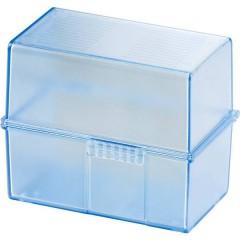 DIN A8 Schedario Translucido , Blu Numero max. di schede: 200 Schede DIN A8 orizzontale incl. 100 cartoncini