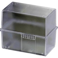 DIN A8 Schedario Translucido , Trasparente Numero max. di schede: 200 Schede DIN A8 orizzontale incl. 100