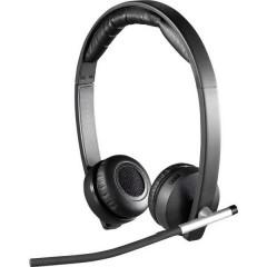 Dual H820e Cuffia Headset per PC USB, 2.4 GHz Stereo, Senza filo Cuffia On Ear