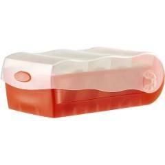 CROCO Schedario Translucido , Rosso Numero max. di schede: 500 Schede DIN A8 orizzontale incl. 100