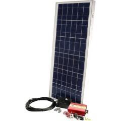 PX 60, PDA300 Kit energia solare 60 Wp Inverter incl., Cavo di collegamento incl., Regolatore di carica