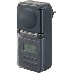 Timer a spina analogico digitale Giornaliero IP44 Programma acceso/spento, Cambio ora