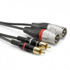 Audio Cavo adattatore [2x Spina RCA - 2x Spina XLR 3 poli] 1.50 m Nero