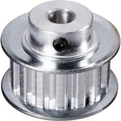 Alluminio Puleggia per cinghia dentata Ø foro: 6 mm Diametro: 28 mm Numero di denti: 15