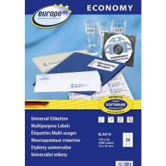 Etichette 70 x 36 mm Carta Bianco 2400 pz. Permanente Etichetta universale Inchiostro, Laser, Copia