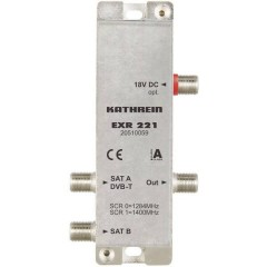 EXR 221 SAT multiswitch Unicable 2 Ingressi (Multiswitch): 3 (2 satellitare / 1 terrestre) Numero utenti: 2