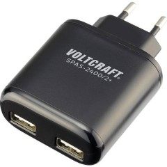 SPAS-2400/2+ Caricatore USB Presa di corrente Corrente di uscita max. 4800 mA 2 x USB