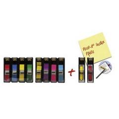 Strisce adesive 10 Blocchi/Conf Rosso, Giallo, Verde, Blu, Limone, Viola, Rosa, Turchese