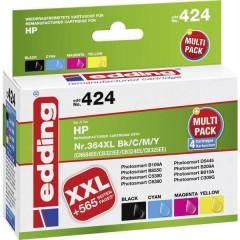 Cartuccia Compatibile sostituisce HP 364, 364XL Imballo multiplo Nero, Ciano, Magenta, Giallo edding 424