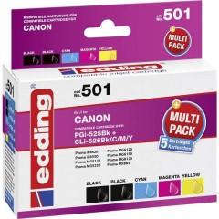 Cartuccia Compatibile sostituisce Canon PGI-525, CLI-526 Imballo multiplo Nero, Nero Photo, Ciano, Magenta,